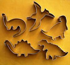 5 x Dinosaur Cookie Cutters Pterosaur Rex Dino Jurassic Baking Biscuit set