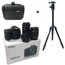 Canon EOS 90D camera 18-55 + 55-250 + 50 Lens + Bag + Tripod UK NEXT DAY DEL