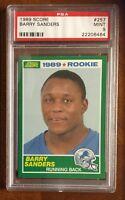 1989 Score #257 Barry Sanders RC PSA 9 Mint Pop. 1/6599