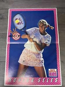 Vintage 1991 Monica Seles Sports Illustrated For Kids Poster 16x11 Tennis
