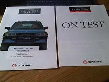 Vauxhall Frontera Range Brochure 1992 Models Edition Number 1 + Autocar on Test