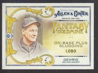 Topps - Allen & Ginter 2018 - Fantasy Goldmine FG-33 Lou Gehrig New York Yankees
