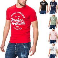 Jack & Jones Herren Kurzarmshirt Herrenshirt T-Shirt Sommer Shirt mit Logo Print