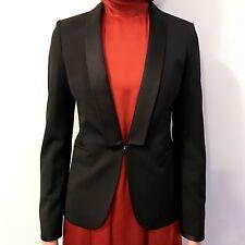 NWT GUCCI Alessandro $1800 Black Tux Jacket Blazer Silk Satin, Sz 42/8