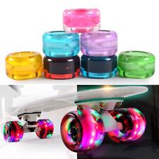 4 PCS Skateboard Long board Wheels LED Light up Flashing Luminous Cruiser Parts
