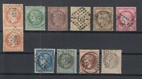 O3951/ FRANCE – 1853 / 1875 USED CLASSIC LOT