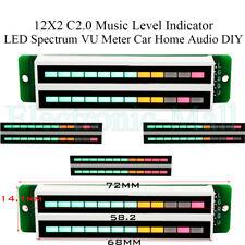 12x2 C20 Music Level Indicator Led Spectrum Vu Meter Car Home Stereo Audio Diy