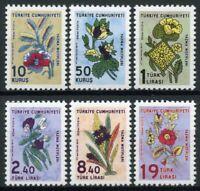 Turkey Flowers Stamps 2019 MNH Coloured Cotton Plants Flora Nature 6v Set