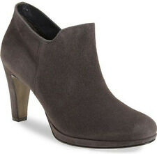NIB PAUL GREEN Jazzy Iron Grey Suede Platform Ankle Bootie Boot Heel US 8.5/UK 6