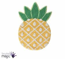 Tropical Pineapple Floor Shaped Rug Childrens Room Sass & Belle 100 Cotton Soft