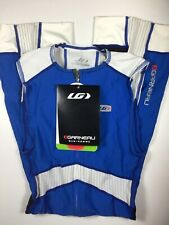 Louis Garneau Pro Padded Tri-Suit Blue/Whote Mens Small
