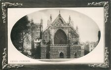 Postcard  Devon Exeter Cathedaral rotary Real Photo embossed Card posted 1910