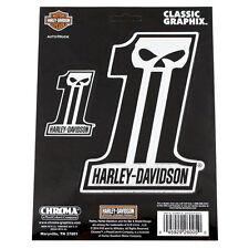 Biker Harley Davidson HD DARK #1 SKULL CROMO LOGO EMBLEMA ADESIVO DECAL STICKER
