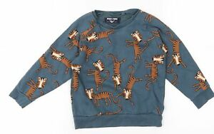 NEXT Boys Blue   Pullover Jumper Size 3-4 Years  - Tigers