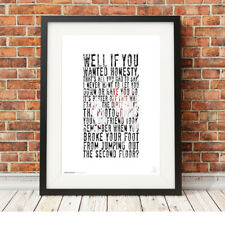 MY CHEMICAL ROMANCE ❤ Gerard Way ❤ MCR lyrics poster art print I'm Not Okay #11