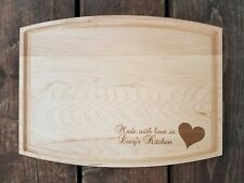 Personalized  Maple Cutting Board Made with love kitchen birthday Christmas gift