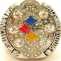 2008 Steelers Roethlisberger Super Bowl 18k Gold Plated Championship Ring