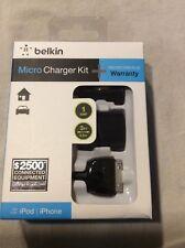 New Belkin charger kit I PHONE I POD + warranty. Read compatibility description