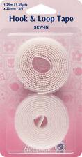 Hemline - Sew-In Hook & Loop Tape: White Value Pk 20mm