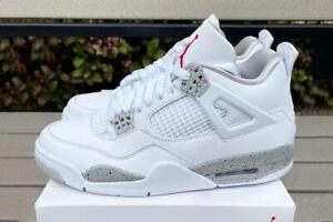 Nike Air Jordan Retro 4 White OREO 2021 Tech Grey CT8527-100 Men & GS