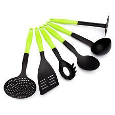 6 Pièces Ustensile de cuisine set accessoires vert ECHASSIERS Attirail