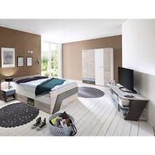 Jugendzimmer Set Bett 140x200cm Kleiderschrank Lowboard Nachttisch Kinderzimmer