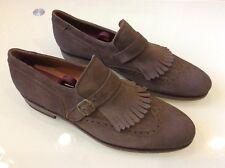BLACKSTONE Mens Brown Fringe & Brogue Detail Leather Loafers Sz 10 $98.00