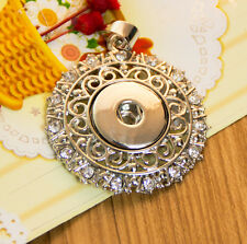 Hot new alloy Pendant lock necklace Fit snap chunk button without Chain