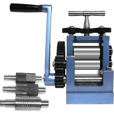 """Rolling Mill 3"""" 80mm & 5 Metal Rollers Jewelers Tool"""