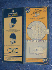 Cartes MICHELIN n° 58 Brest Quimper 1949