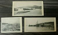 AN) 3x Blatt 1907 Katastrophe Taifun Hong Kong HongKong Torpedoboot Hafen Sturm