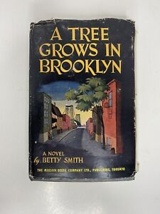 """Vtg 1945 """"A Tree Grows In Brooklyn"""" By Betty Smith Novel - First Ed/Third Print"""