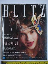 """BLITZ MAGAZINE-Issue No. 41 May 1986. """"Helena Bonham Carter"""" cover. John Peel."""