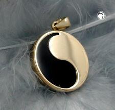Anhänger Yin-yang Onyx 9kt Gold