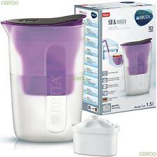 BRITA Fill & Enjoy Fun 1.5L Water Filter Jug with MAXTRA Refill Cartridge Purple