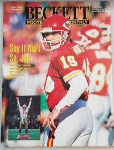 Beckett Football Card Monthly #63 Joe Montana June 1995 Steve McNair Complete