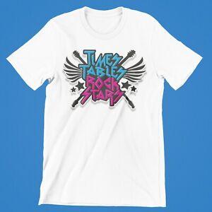 Time Table Rock Star T-Shirt  Boys Girls TV Retro Tee Children Tee  Kids