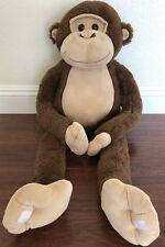 "Chimp 34"" Soft Large Plush Monkey Life Like Dark Brown * Good Condition *"