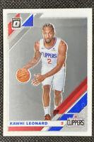 Kawhi Leonard 2019-20 Donruss Optic Base Card #30 Los Angeles Clippers