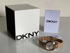 NEW! DKNY DONNA KARAN STANHOPE BEIGE LEATHER STRAP WATCH NY2457 $115 SALE