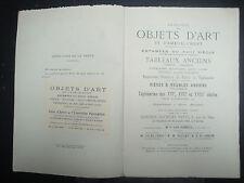 Livre - Catalogue de Ventes d'Objets d'Art - 1926