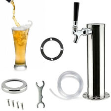 1 Tap Draft Beer Kegerator Tower With Chrome Faucet Stainless Steel For Homebar