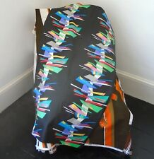 Vintage 1980s Abstract NEW WAVE Retro Design Fabric...