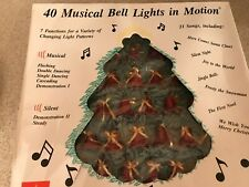 Vtg 40 Musical Bell Lights in motion 21 one songs 7 functions Changing patterns