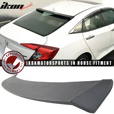 16-17 Honda Civic X Sedan 4Dr 10th Gen IKON Type 2 Primer Black Roof Spoiler ABS