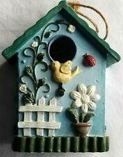 Bird House with Spring Theme Green Gate Flower Bird Enamel