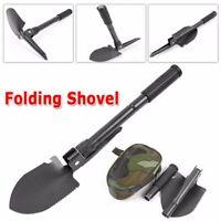 Military Outdoor Portable Folding Shovel Multi Purpose Steel Spade Survive Tool
