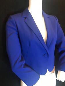 "BNWT HOBBS Women's """"Catrin"" Jacket Iris Blue UK 8 RRP £189"