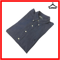 Polo Ralph Lauren Mens Blake Vintage Shirt XL Cotton Navy Long Sleeve Regular