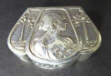 Silber Dose Rückert Jugendstil Faberge Art Nouveau Mainz Darmstadt 800 Behrens